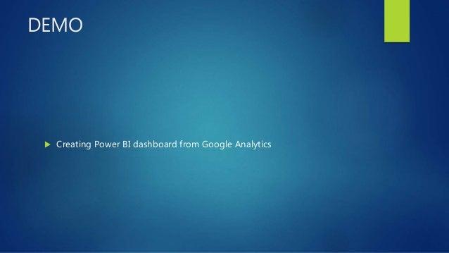 DEMO  Creating Power BI dashboard from Google Analytics