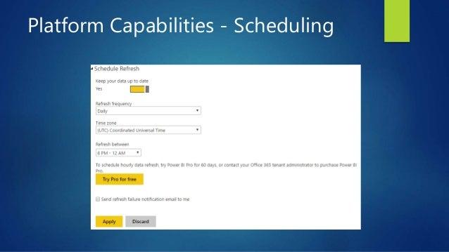 Platform Capabilities - Scheduling