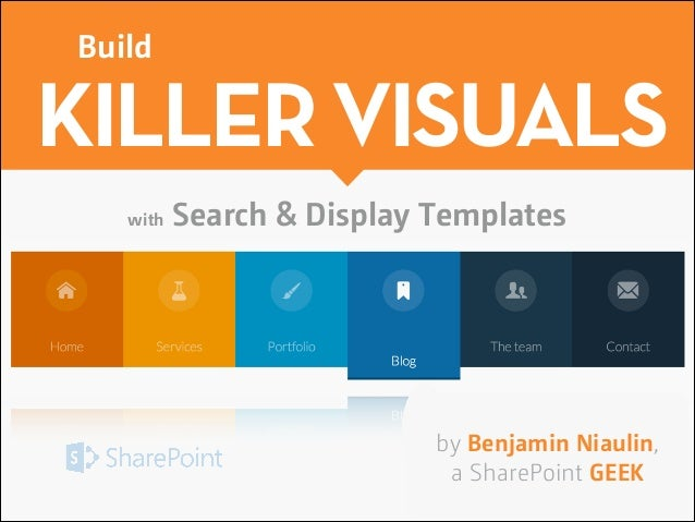 Build killer visuals with sharepoint 2013 search display for Free sharepoint designer templates