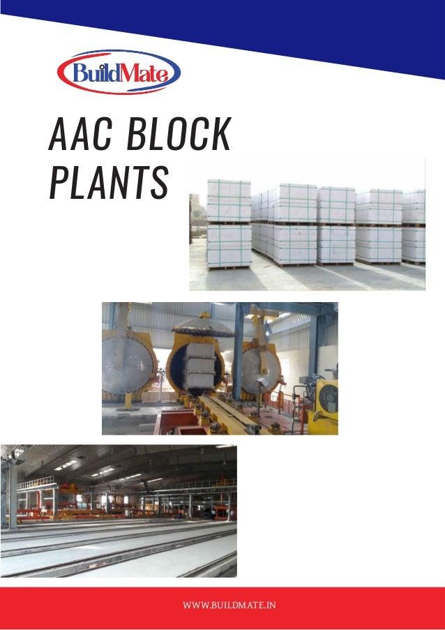 AAC BLOCK PLANTS WWW.BUILDMATE.IN