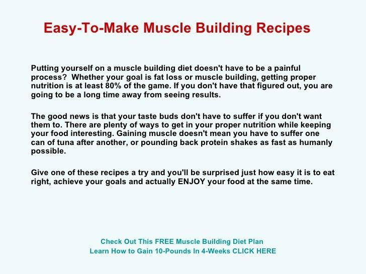 Build Muscle Diet Plan