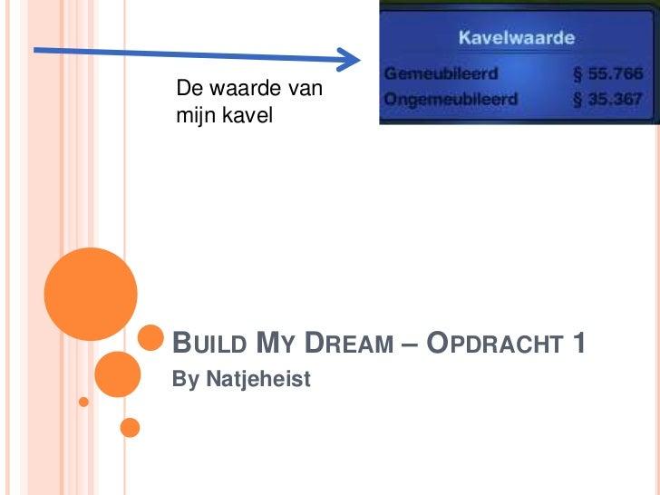 De waarde vanmijn kavelBUILD MY DREAM – OPDRACHT 1By Natjeheist