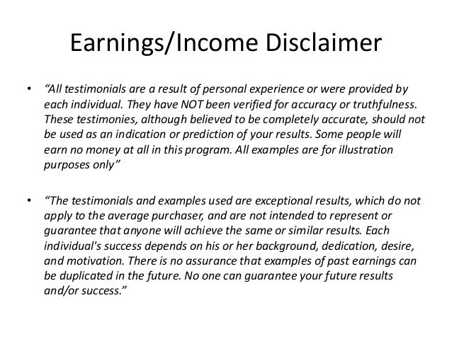 Earnings Disclaimer >> Earnings Disclaimer Update Cars For 2020
