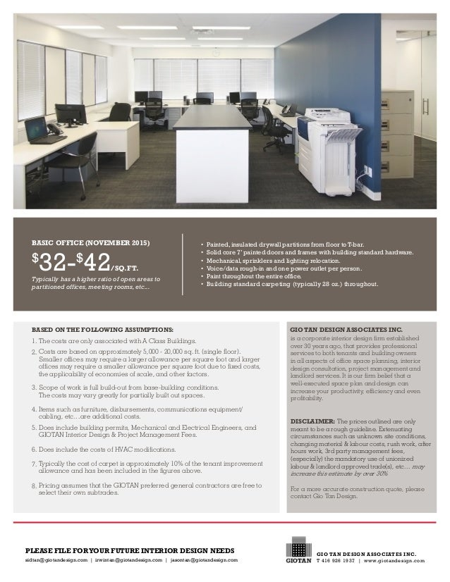 Office Space Construction Costs 32 42 SQFT O Paintedinsulated Drywall Partitions