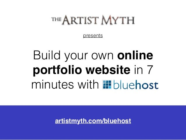 Build an artist portfolio website with bluehost for Build your own home website