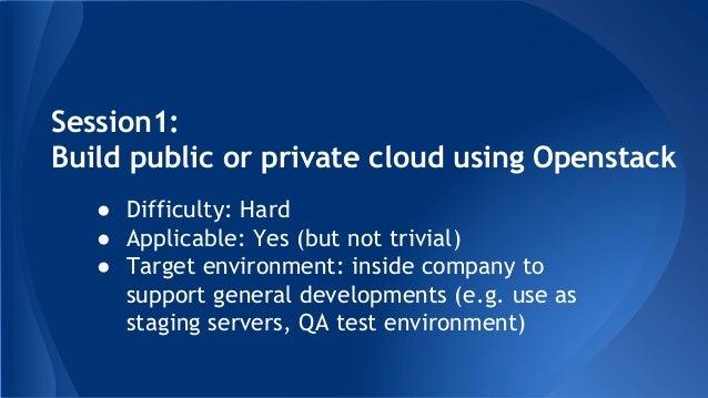Build public private cloud using openstack Slide 3