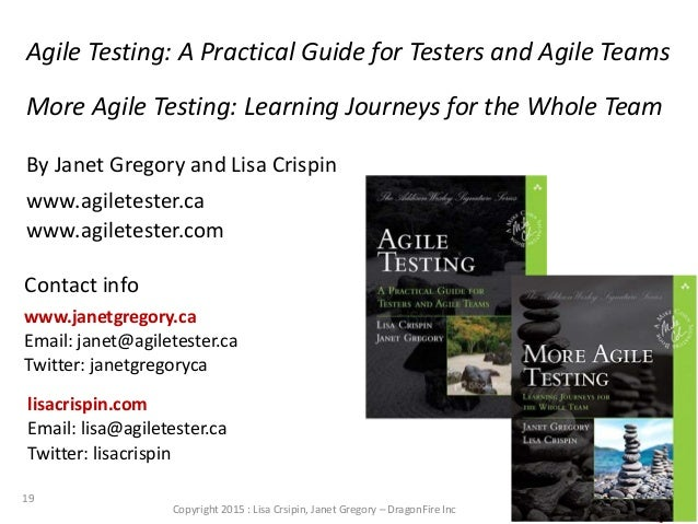 build quality in workshop with janet gregory and lisa crispin at agi rh slideshare net Agile Testing Strategy Quality Testing