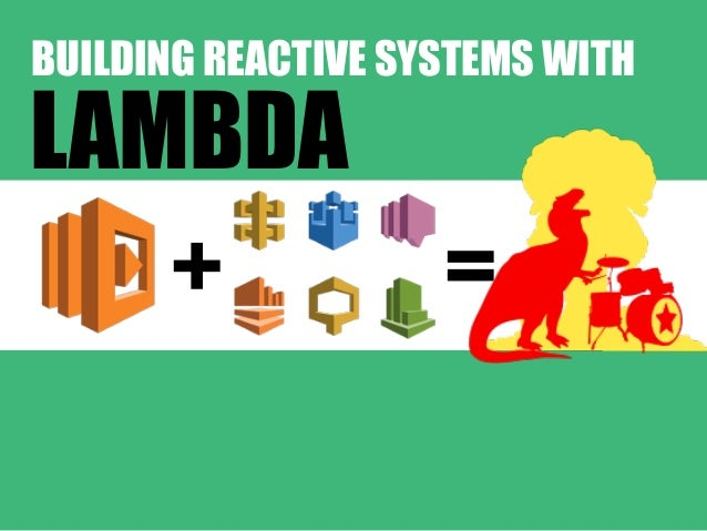 + = BUILDING REACTIVE SYSTEMS WITH LAMBDA