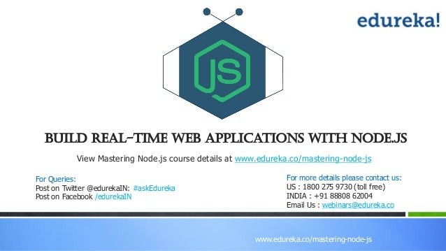 Build Real Time Web Applications With Node js