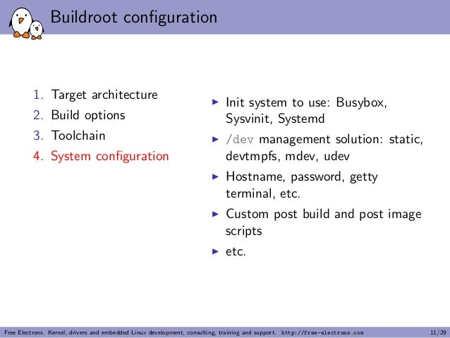 Buildroot: building embedded Linux systems made easy! (Linux