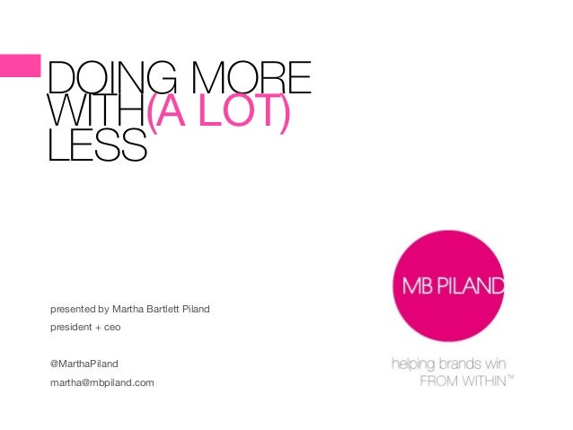 DOING MORE WITH(A LOT)