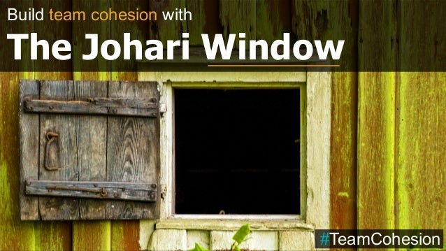 Build team cohesion with The Johari Window #TeamCohesion