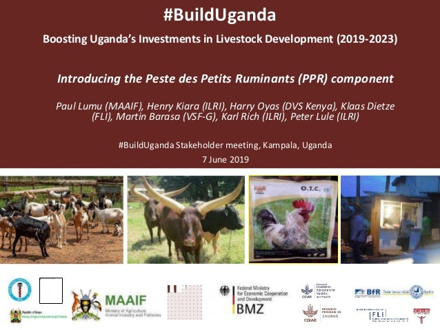 #BuildUganda Boosting Uganda's Investments in Livestock Development (2019-2023) Introducing the Peste des Petits Ruminants...