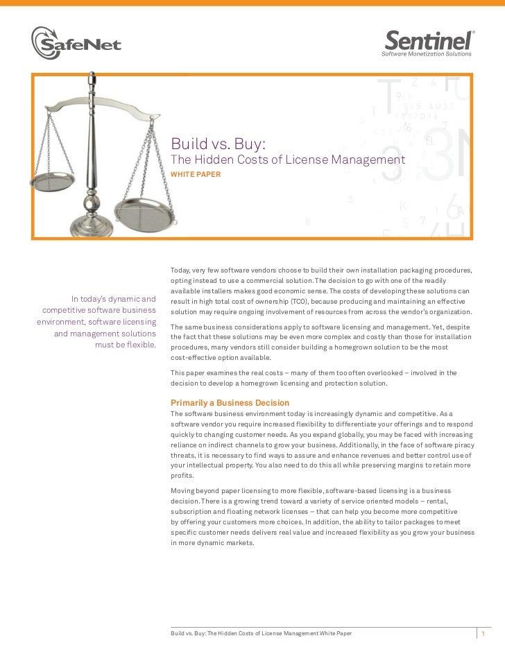 Bu                                   Build vs. Buy:                                   The Hidden Costs of License Manageme...