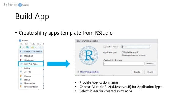Build web apps with R