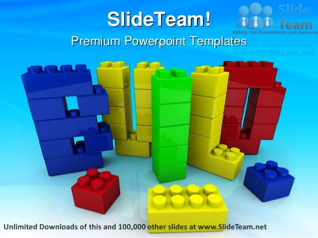 Build Word In Toy Education Power Point Templates Themes And