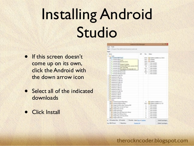 how to build your first android application