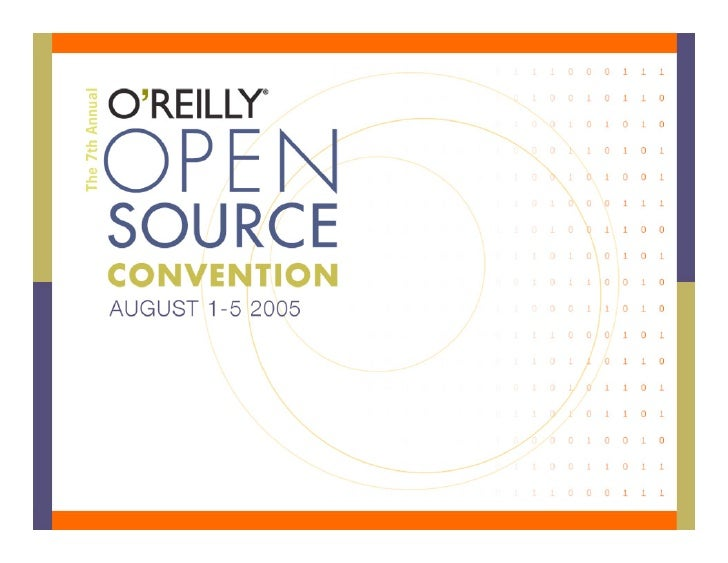 Building Your Own Chandler Parcel                 Ted Leung    Open Source Applications Foundation              O'Reilly O...