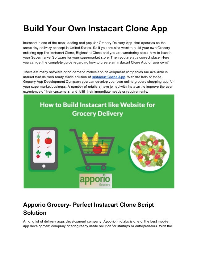 Build your own instacart clone app