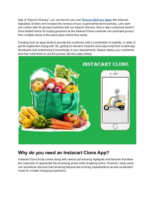 Build your own instacart clone app