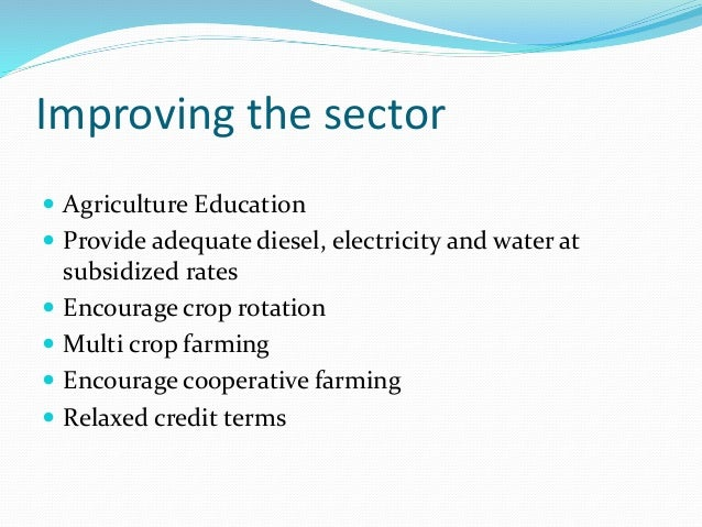 If we look at the challenges faced by Indian agriculture, we can broadly group them into two categories. One category belo...
