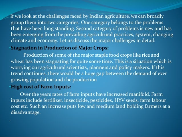 Opportunities to Agricultural Sector in India