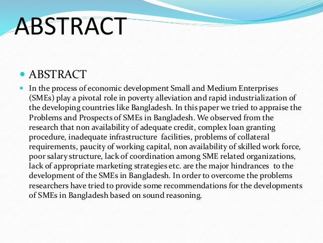 problems and prospects of sme in bangladesh Sme: issues, challenges & prospects by problem because of the thick cloud surrounding the role of sme_issues, challenges and prospects.