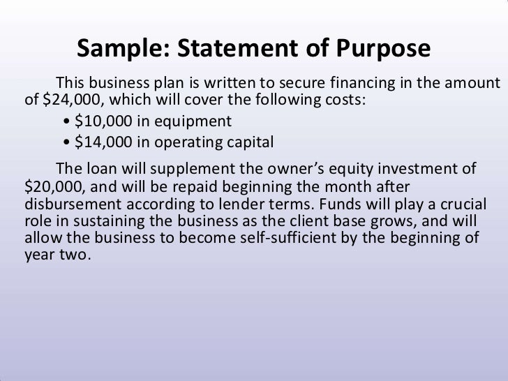 what is the purpose of a template - purpose business plan