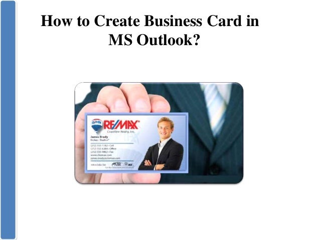 Create Business Card In Microsoft Outlook