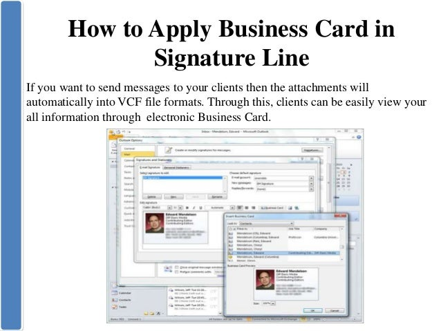 Create business card in microsoft outlook 8 how to apply business card reheart Images