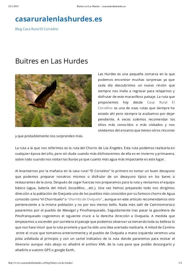 22/1/2015 Buitres en Las Hurdes - casaruralenlashurdes.es http://www.casaruralenlashurdes.es/blog/buitres-en-las-hurdes/ 1...