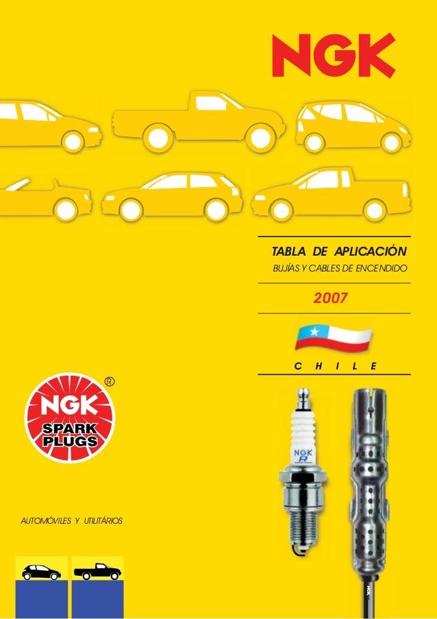 TABLA DE APLICACIÓN                            BUJÍAS Y CABLES DE ENCENDIDO                                    2007       ...