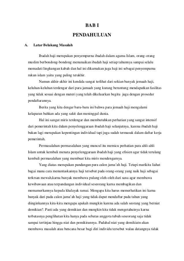 Lesley Pearson Kesimpulan Makalah Haji Dan Umrah