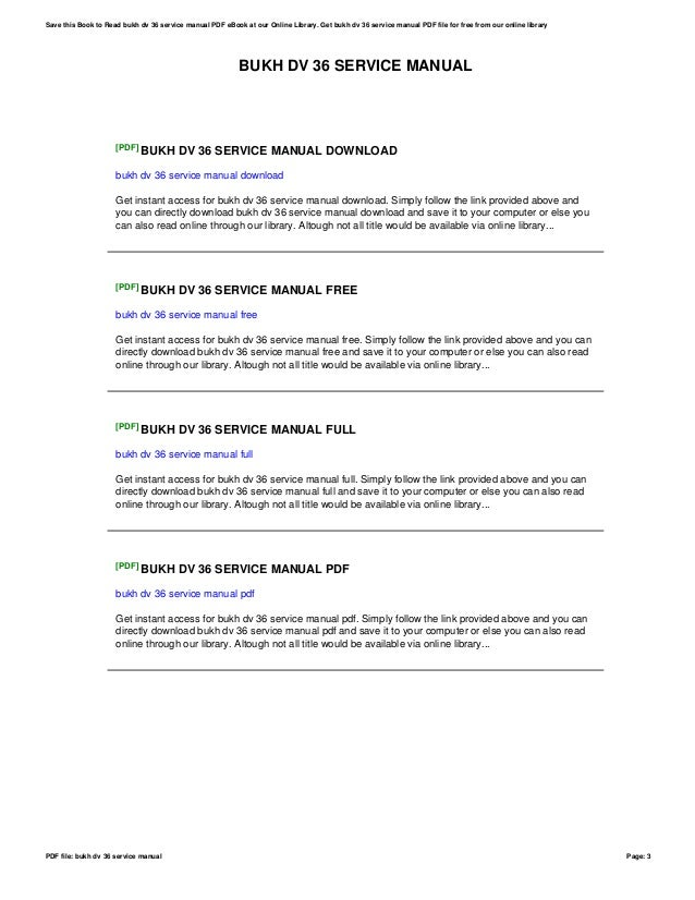 Bukh 36 manual ebook bukh array bukh dv 36 service manual rh slideshare net fandeluxe Images