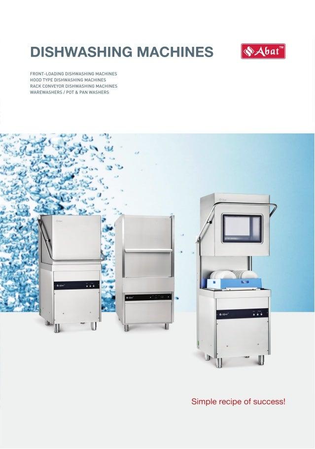 ABAT Dishwashing Machines - ENGLISH - 2016