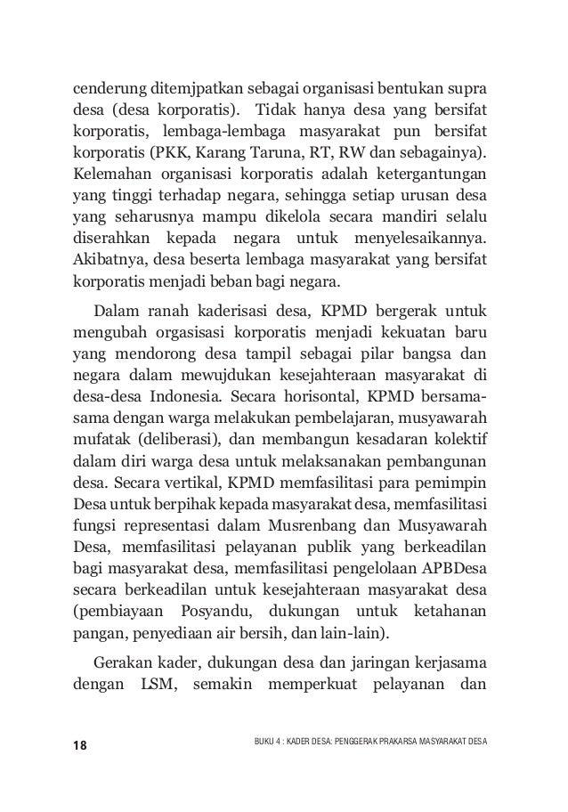19BUKU 4 : KADER DESA: PENGGERAK PRAKARSA MASYARAKAT DESA gerakan kesehatan berbasis desa. Di Kupang, hadir INCREASE, sebu...