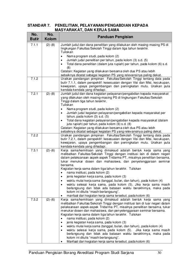 Buku 4 Panduan Pengisian Instrumen Akreditasi S1 Versi 08 04 2010