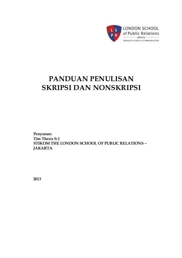 nomor thesis lspr