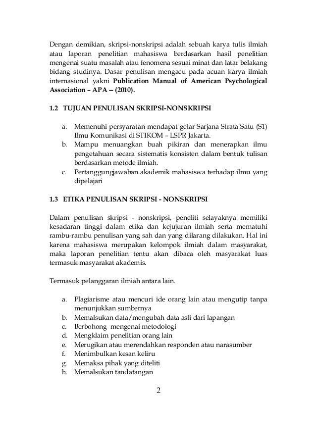 Buku Panduan Skripsi Nonskripsi 2013