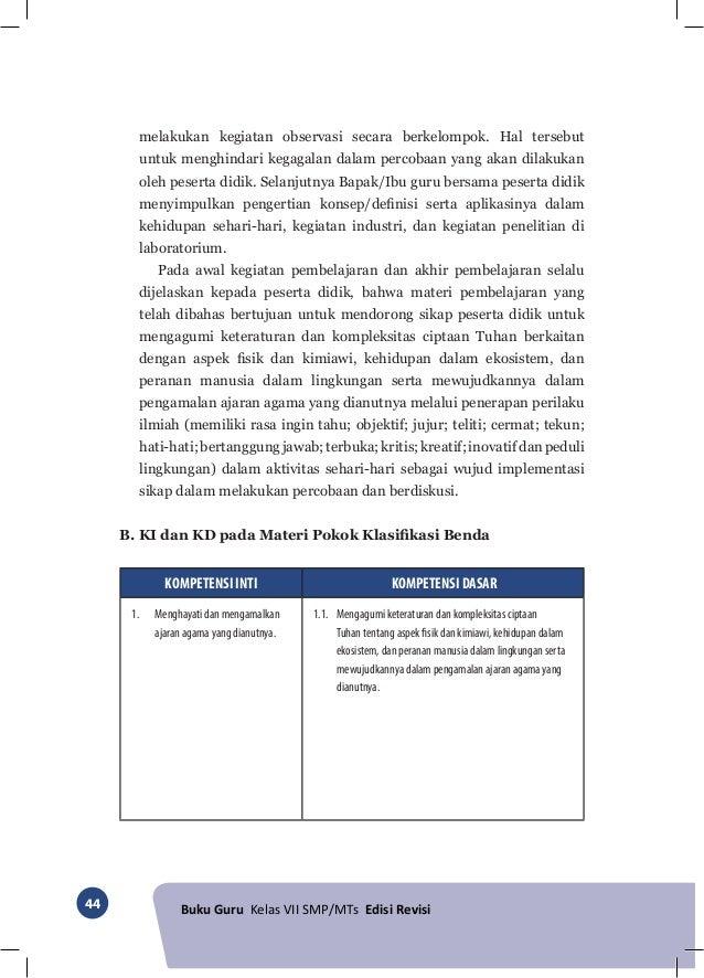 Kunci Jawaban Ipa Kelas 7 Kurikulum 2013 Edisi Revisi 2016 ...