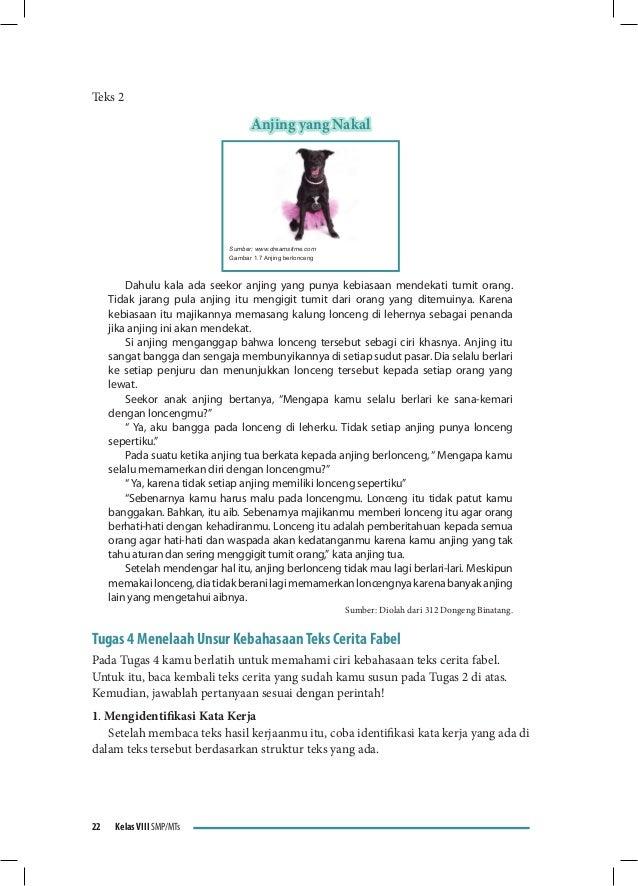 Buku Pegangan Siswa Bahasa Indonesia Smp Kelas 8 Kurikulum 2013