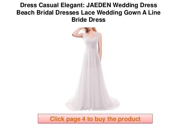 JAEDEN Wedding Dress Beach Bridal Dresses Lace Wedding Gown A Line Br… 444b9d2726