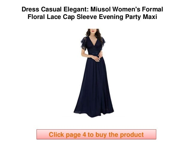 dress casual elegant miusol womens formal floral lace cap sleeve evening party maxi click page