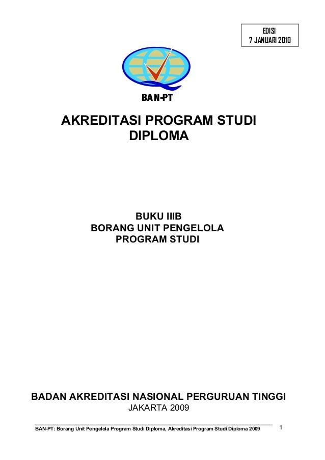 Buku 3 B Borang Institusi Pengelola Program Diploma