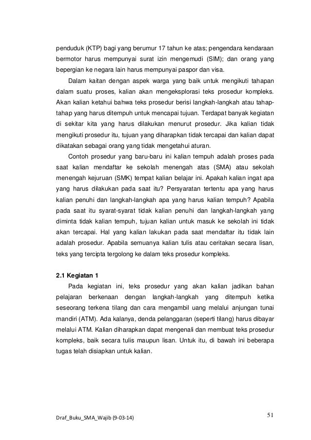 Contoh Teks Prosedur Visa - Contoh JKL