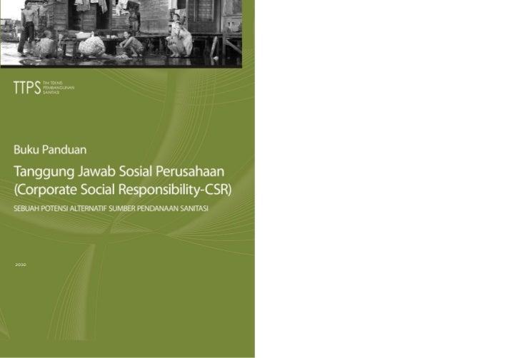 PENDAHULUAN                                           iBuku PanduanTanggung Jawab Sosial Perusahaan(Corporate Social Respo...