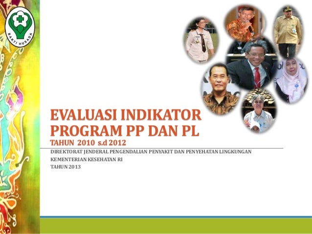 EVALUASI INDIKATOR PROGRAM PP DAN PL TAHUN 2010 s.d 2012 DIREKTORAT JENDERAL PENGENDALIAN PENYAKIT DAN PENYEHATAN LINGKUNG...