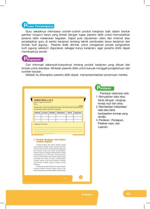 Kunci Jawaban Prakarya Kelas 8 Revisi Sekolah