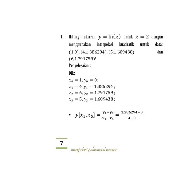 Interpolasi Newton