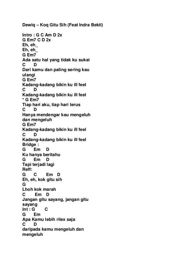 Buku kumpulan lirik lagu indonesia + kunci gitar